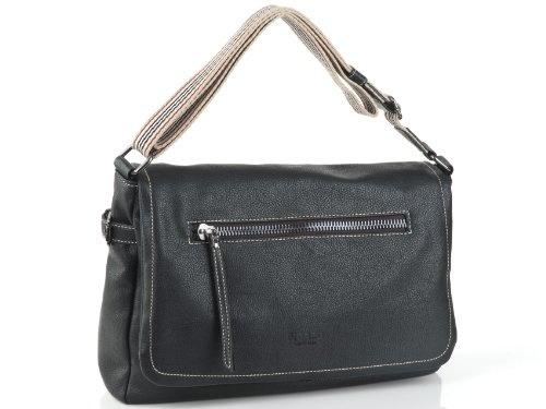 Handtasche Damentasche aus Kunstleder Smiley Tasche Schwarz Gelb Strass Steine