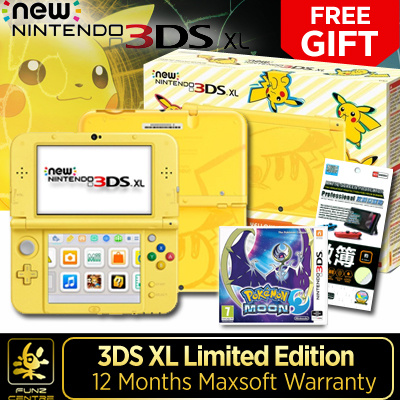 qoo10 special promo yellow pikachu nintendo 3ds xl. Black Bedroom Furniture Sets. Home Design Ideas