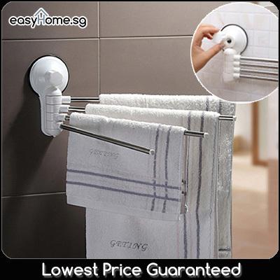 Qoo10 sq1987 towel rack bathroom clothes hanger hook for Bathroom clothes hanger