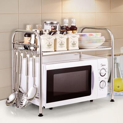 qoo10 stainless steel microwave oven rack kitchen shelf. Black Bedroom Furniture Sets. Home Design Ideas