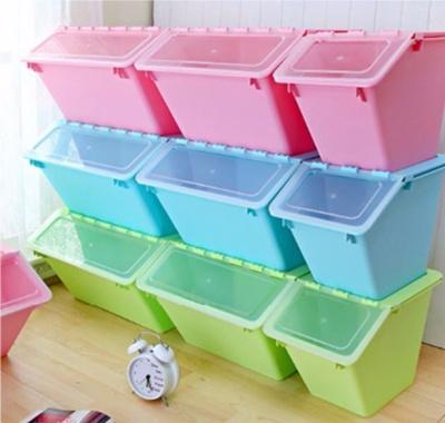 Qoo10 Storage Box Transparent Translucent Opaque Cover Plastic Container Sta Furniture Deco