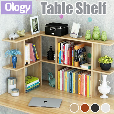 Study Table Shelf Desk Top Storage Rack Bookshelf Computer Space Saving  Office Work Station
