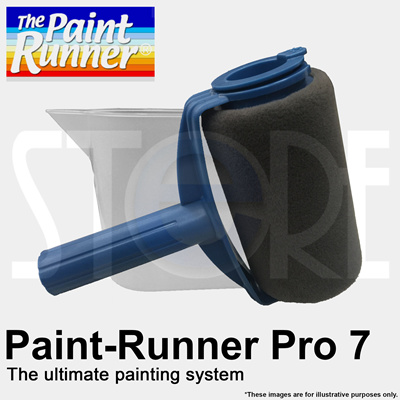 qoo10 the paint runner pro 7 inch refillable paint roller set no spill and tools. Black Bedroom Furniture Sets. Home Design Ideas