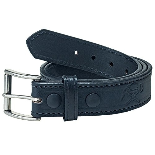 Style 19329 Made in Italy Belt By Ardente Black Smooth Plaque Buckle