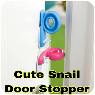 Qoo10 thingswelove baby child safety cute snail door stopper guard prevent baby maternity - Cute door stoppers ...