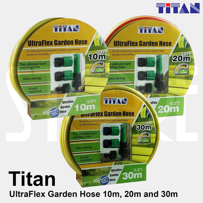 Qoo10 TITAN Ultra Flex Garden Hose 10m 20m and 30m Tools