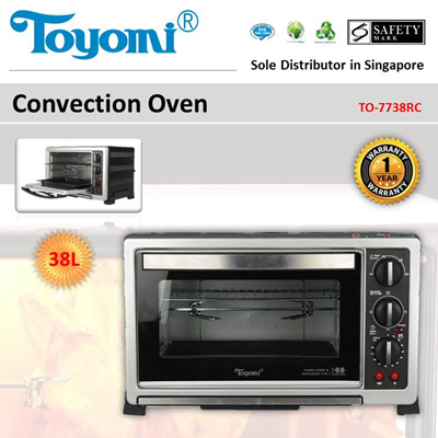 Qoo10 - TOYOMI Convection Oven 38.0L [Model: TO-7738RC] - Official ...