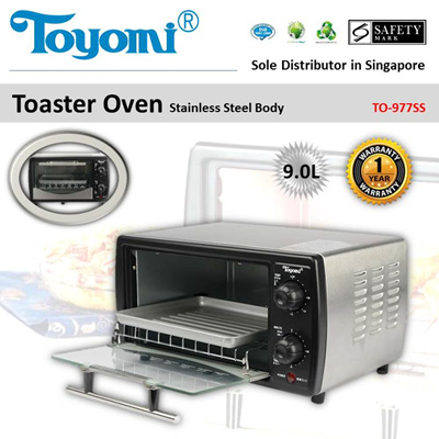 Qoo10 - TOYOMI Toaster Oven with Stainless Steel Body 9.0L [Model ...