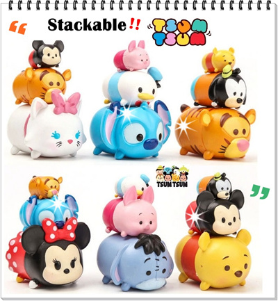 qoo10 tsum tsum stackable figurine cake topper children. Black Bedroom Furniture Sets. Home Design Ideas