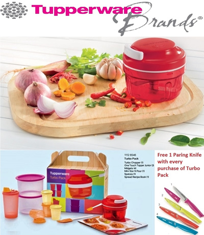 qoo10 free gift authentic tupperware turbo chopper turbo pack free kitchen dining. Black Bedroom Furniture Sets. Home Design Ideas
