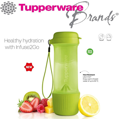 qoo10 infuse2go authentic tupperware water bottle tumbler bpa free kitchen dining. Black Bedroom Furniture Sets. Home Design Ideas