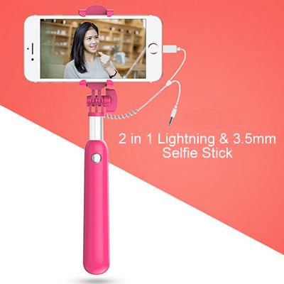 qoo10 valentines day gift 2 in 1 lightning selfie stick selfie stick. Black Bedroom Furniture Sets. Home Design Ideas