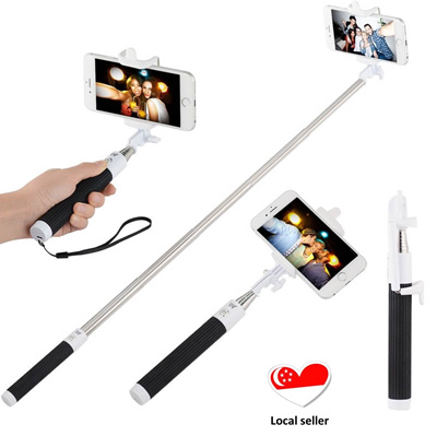qoo10 valentines gift foldable selfie stick with built in bluetooth remote mobile devices. Black Bedroom Furniture Sets. Home Design Ideas