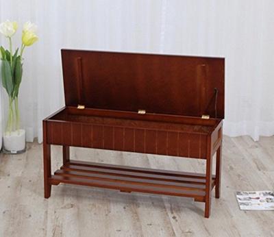 Qoo10 Walnut Finish Solid Wood Storage Shoe Bench Rack Shelf Furniture Deco