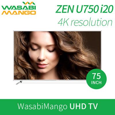 qoo10 wasabi mango zen u750 i20 uhd tv 75inch 189cm led s pva panel disp tv camera. Black Bedroom Furniture Sets. Home Design Ideas