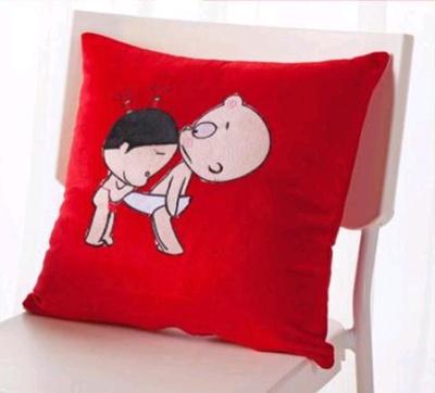 Cute Couple Pillow Covers : Qoo10 - Wedding Cushion Cover/Couple Cushion Cover/Cute Cushion Cover/Wedding ... : Furniture & Deco
