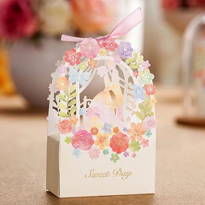 Wedding Favor Bags With Ribbon : - Wedding Favor Candy Box Wedding Party Favor Bags Ribbon Candy Gift ...