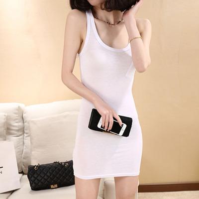 qoo10 white premium good quality padded camisole tank