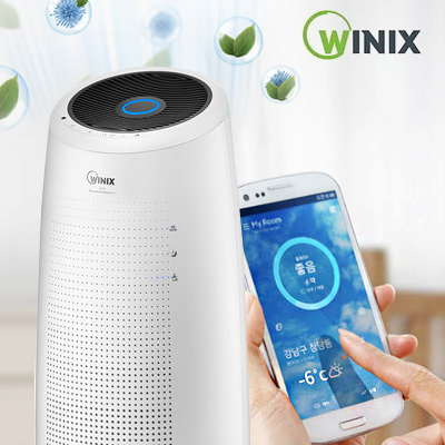 qoo10 winix tower air purifier aen331w w0 wi fi type perfect air purificat home electronics. Black Bedroom Furniture Sets. Home Design Ideas