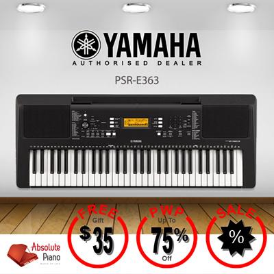 Qoo10 digital piano sale yamaha psr e363 portable for Yamaha psr e363