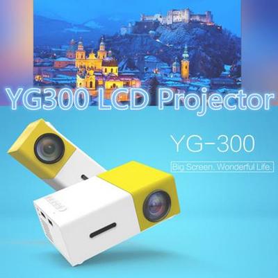 qoo10 yg300 led portable projector 400 600 lm mini. Black Bedroom Furniture Sets. Home Design Ideas