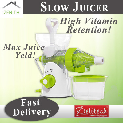 Slow Manual Juicer Ps 326 : Qoo10 - Zenith Home Manual Slow Juicer : Kitchen & Dining