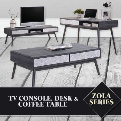 Qoo10 zola series living room set tv console coffee table desk furniture deco Coffee table tv stand set