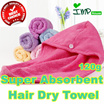 ★IMP HOUSE★[imp Living][Hair Dry Towel]TPremium Microfiber Hair Towel Wrap/ Hair cap/ Dry your Hair without damaging / High Quality Long and thick Micro Fiber
