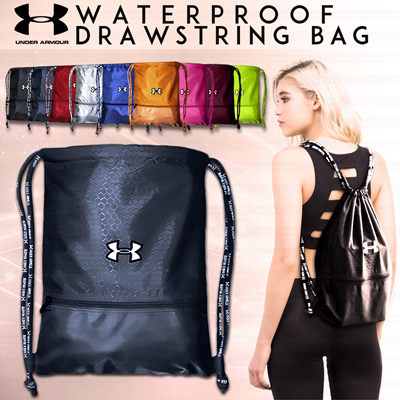 Qoo10 - UNDER ARMOUR Waterproof Drawstring Bag◀Sports Backpack ...