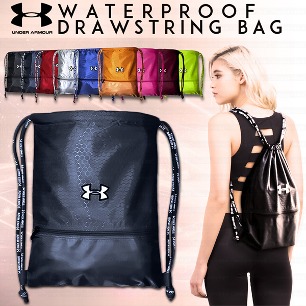 37359169d63a Buy UNDER ARMOUR Waterproof Drawstring Bag Sports Backpack Travel Bag Shoe  Bag Shoulder Bag  Soccer Bag Deals for only S 19.9 instead of S 19.9
