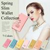 【送料無料】選べる7色 本革 薄型 財布 長財布 レディース