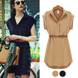 S~XXL big size chiffon Dress UK Style / Plus size Dress/onepiece