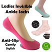 Ladies Ultra Low-Cut Invisible Boat Socks | Non-Slip Modal Cotton Bamboo Fiber Women Socks