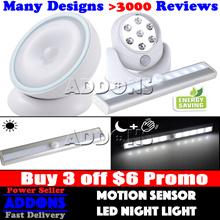 【BUY 3 GET $6 OFF】Portable Wireless Premium Motion Sensor LED Night Light  with Warranty