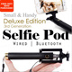 Lowest Price in Qoo10!! Bluetooth / Wired 3RD GENERATION 360 degree rotatable Selfie Pod - DELUXE Edition. For Iphone 6 / 6 plus  Samsung  Xiaomi Selfie Stick