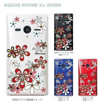 【AQUOS PHONEケース】【203SH】【Soft Bank】【カバー】【スマホケース】【クリアケース】【Vuodenaika】【フラワー】 21-203sh-ne0045の画像
