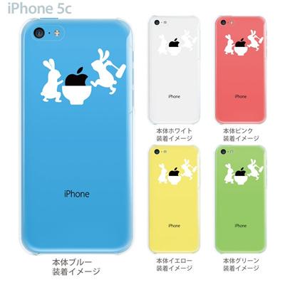 【iPhone5cケース】【iPhone5cカバー】【スマホケース】【クリア】【クリアケース】【イラスト】【クリアーアーツ】【ウサギの餅つき】 06-ip5cp-ca0025の画像