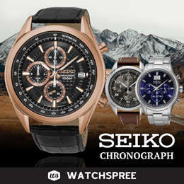 *APPLY 25% OFF COUPON* Seiko Chronograph Series! Free Shipping and 1 Year Warranty.