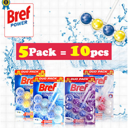 BREF DUO 5-PACK (5PACK = 10 PCS) (TOILET BOWL CLEANER / German Technology