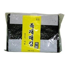 【韓国食品・韓国のり・韓国食材】 ■特上【在来】海苔(味付いてない焼き用海苔100枚)■の画像