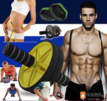 Abdominal magic sports equipment / wheel roll / push up bar / muscular /sports/handphone holder
