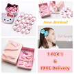 1 FOR 1 【Exquisite Gift Box Set】Kids Safety Hair Clips/Korean Design Accessories/Baby Hair Clips Set