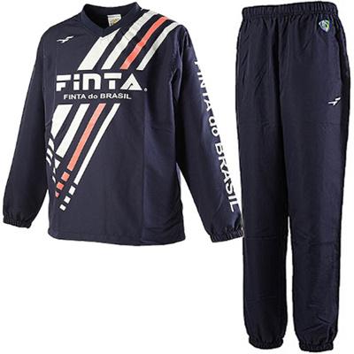 ◆即納◆フィンタ(FINTA) ピステ上下セット FT6400/FT6401 ネイビー/ネイビー 1100 【サッカー フットサル トレーニングウェア 上下組】の画像