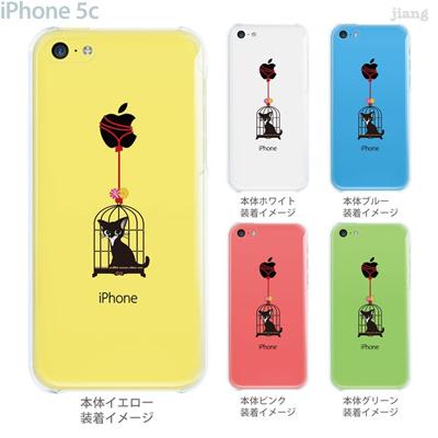 【iPhone5c】【iPhone5c ケース】【iPhone5c カバー】【iPhone ケース】【カバー】【スマホケース】【クリアケース】【イラスト】【クリアーアーツ】【Clear Arts】【鳥かごにねこ】 01-ip5c-zec001の画像