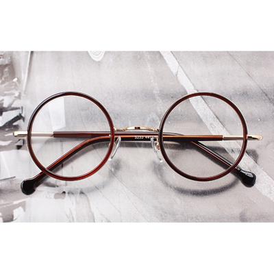 [新商品]Classic Round スタイルの眼鏡/E233 brown サングラス/Sunglass/韓国の芸能人の協賛メガネの画像
