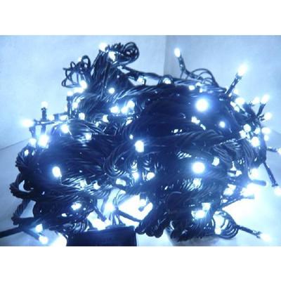 【レビュー記載で送料無料!】LED100球イルミネーション/白/黒線 ホワイト/防雨加工 連結可能 即納の画像