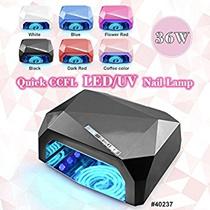36w UVライト ネイルドライヤー 体感センサー 12wCCFL+24WLED ネイルランプ タイマー設定 ネイルライトLED ジェルネイル ledライト UVとLED対応 3ヶ月保証