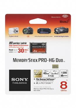 Sony 8GB MS-HX8A Memory Stick Pro-HG Duo