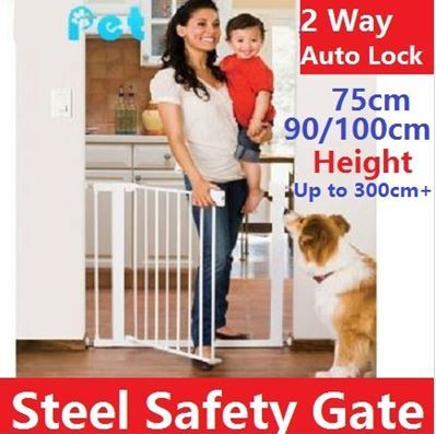 ?100% Orignal Authentic ChildStar?75cm/100cm Height Safety Gate*up to 300+cm* Pets/Kids*Door Fence Deals for only S$129 instead of S$0