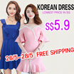 FREE SHIPPING JUST NEED $5.9 New Korean dress/dresses/office/work dress/off shoulder